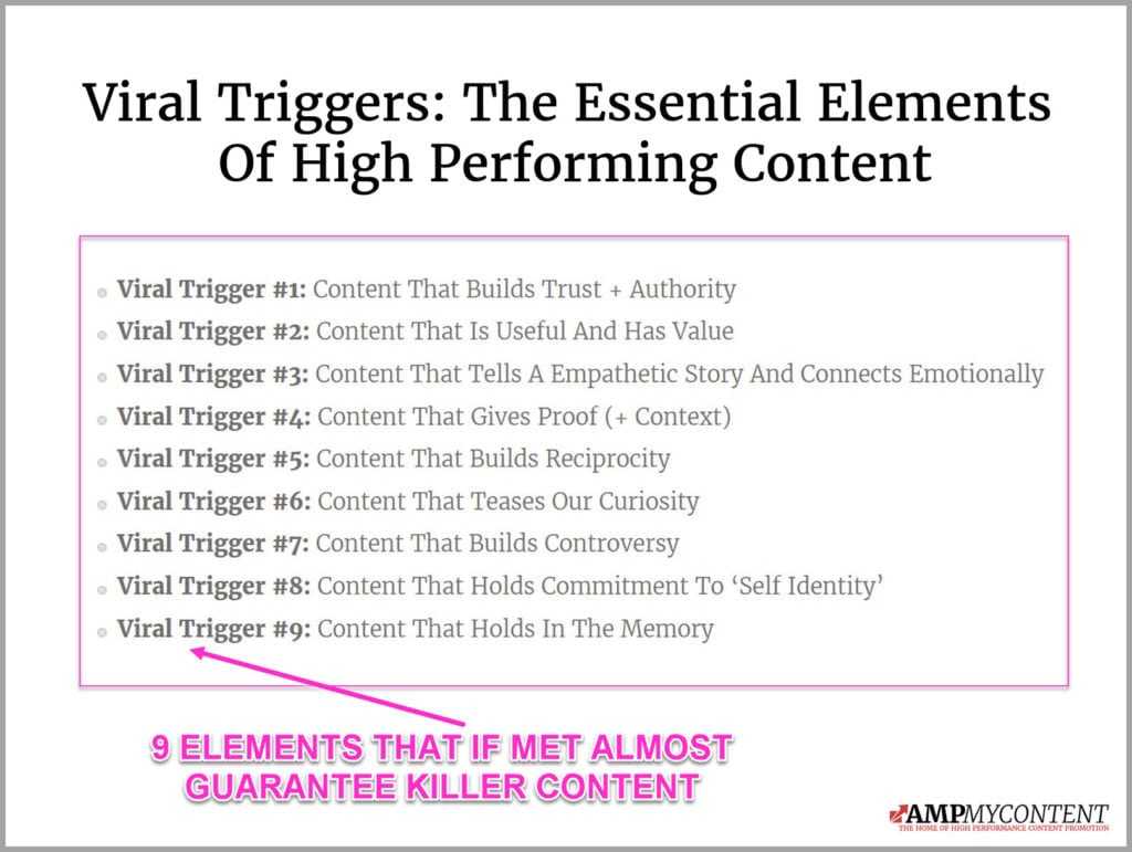 The 9 viral triggers of high performing content