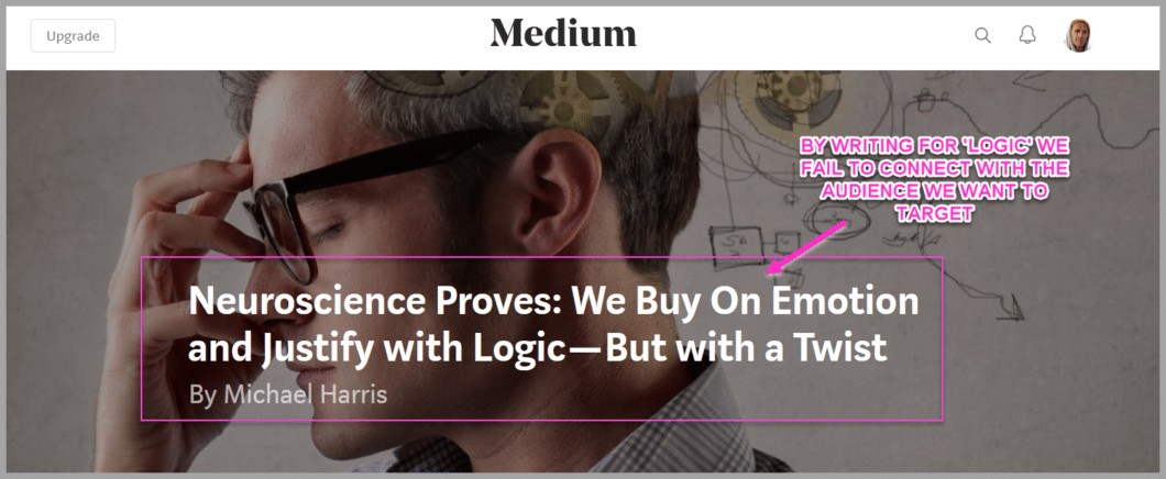 People buy with emotion, but justify with logic