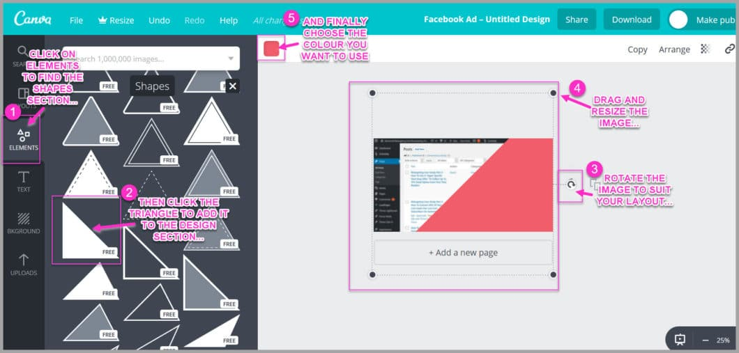 Add colour to your layout to help it stand out in the news feed