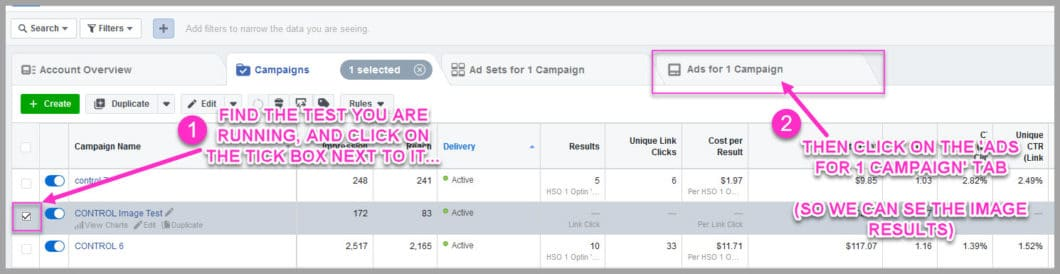Check in on your ads and look at the results