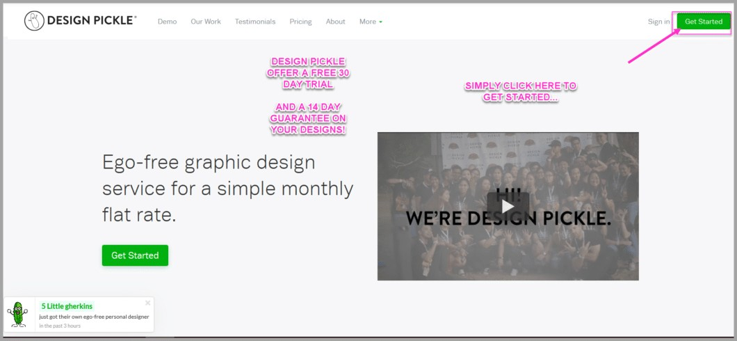Hire a designer with Design Pickle