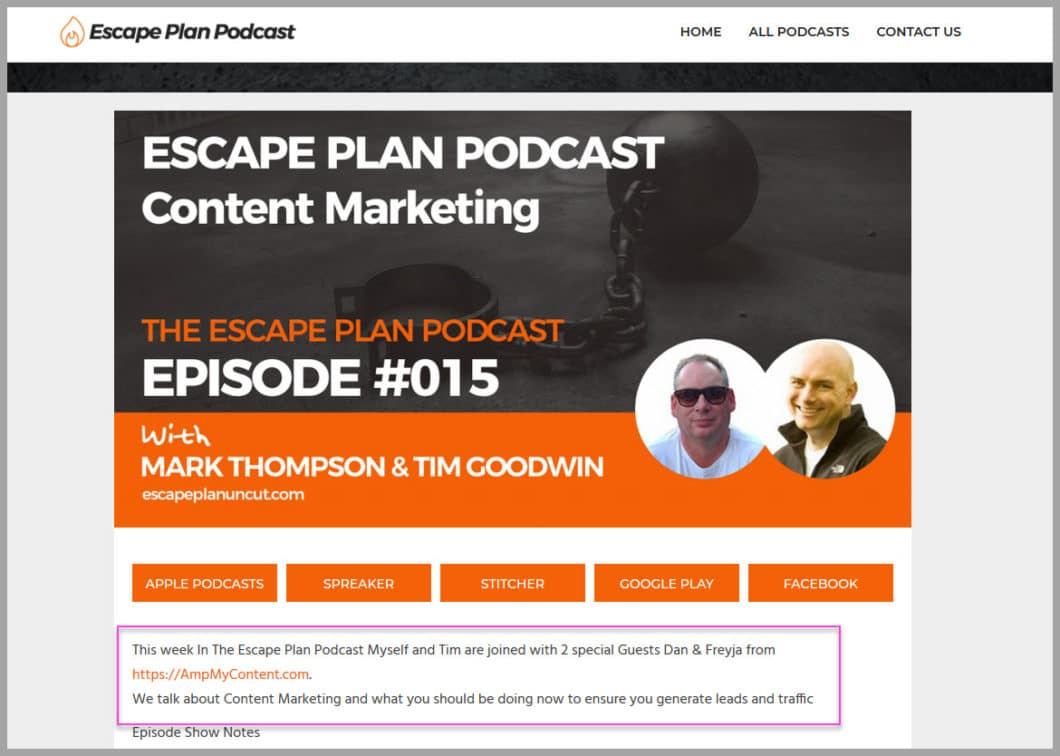 The escape plan podcast- some smart peeps!