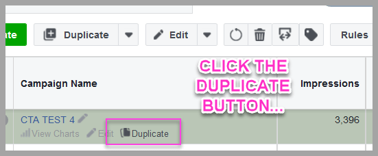 Duplicate at the campaign level...