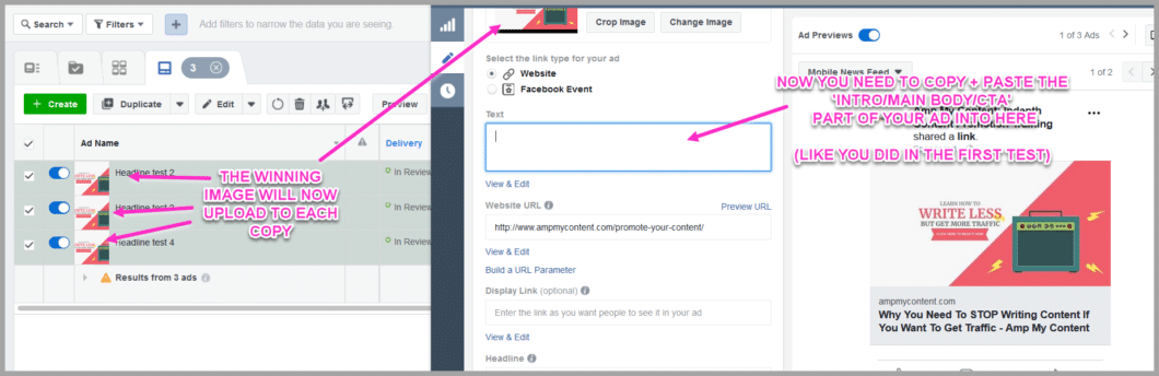 Keep the winning image control for all new split tests