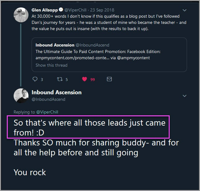 Early influencer interaction
