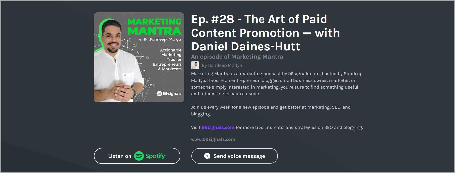 Marketing Mantra Podcast Ep. #28